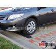 A gumi parkolási ütközésvédő alkalmazása parkolóban