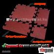 A 2 cm vastag, vörös színű puzzle gumiburkolat elemei