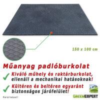 Trapéz mintázatú, Ipari műanyag padlóburkolat, műhelyekbe, raktárakba.