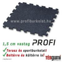 1,5 cm vastag fekete puzzle gumilap - professzionális burkoláshoz.