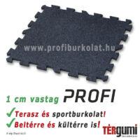 Profi puzzle gumilap - 1 cm vastag fekete