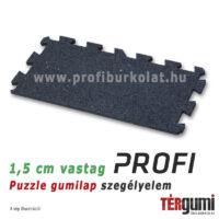 Profi puzzle gumilap szegélyelem - 1,5 cm vastag fekete