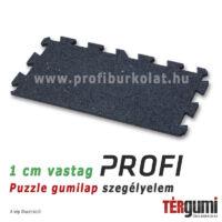 Profi puzzle gumilap szegélyelem - 1 cm vastag fekete