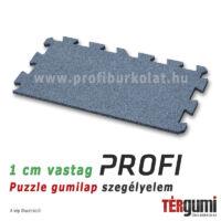 Profi puzzle gumilap szegélyelem - 1,5 cm vastag szürke