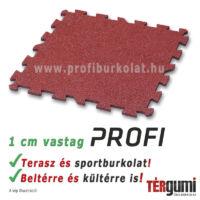 Profi puzzle gumilap - 1 cm vastag vörös
