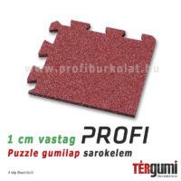 Profi puzzle gumilap sarokelem - 1 cm vastag vörös