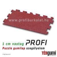 Profi puzzle gumilap szegélyelem - 1 cm vastag vörös