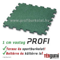 Profi puzzle gumilap - 1 cm vastag zöld
