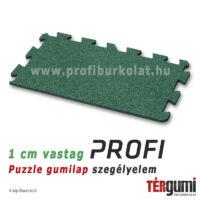 Profi puzzle gumilap szegélyelem - 1 cm vastag zöd