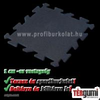 1 cm vastag rezgéscsillapító puzzle gumilap fekete színeben
