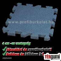 4 cm vastag esésvédő puzzle gumilap szürke színben