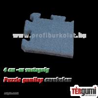 Sarokelem a szürke színű, 4 cm vastag esésvédő puzzle gumilap mellé