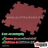 2 cm vastag rezgéscsillapító puzzle gumilap vörös színeben