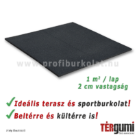 Feket dekor rezgéscsillapító gumilap