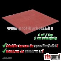 Vörös színű dekorációs rezgéscsillapító gumilap